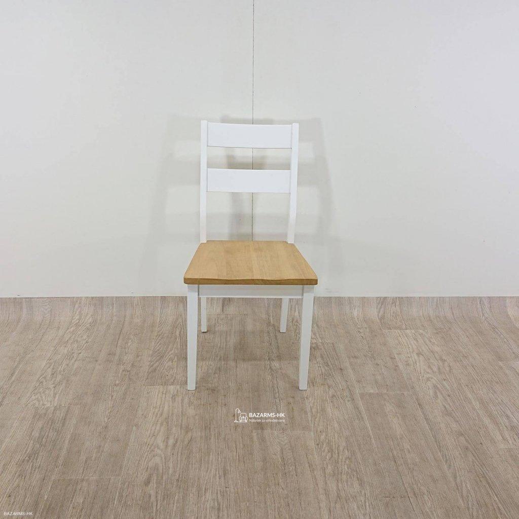 Hnědo-bílá jídelní židle Actona Derri