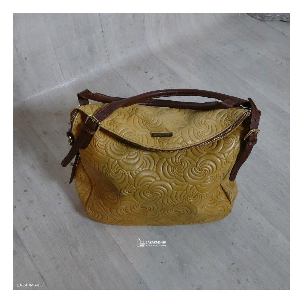 Koňakově hnědá kožená kabelka Mangotti B