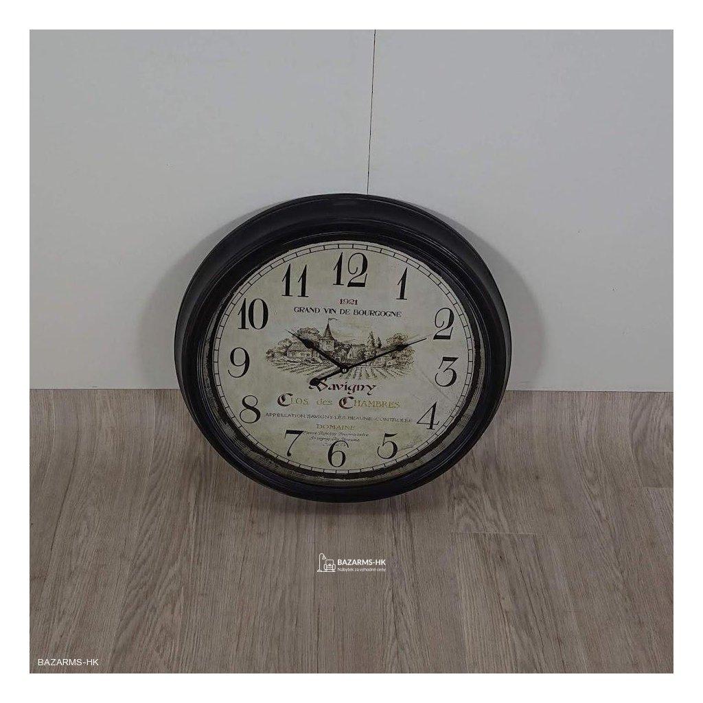 Kovové nástěnné hodiny Grand Vin de Bour