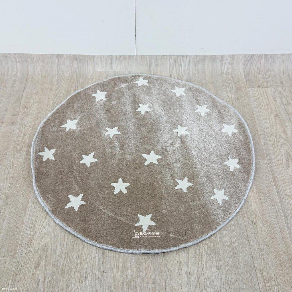 Kulatý koberec s hvězdami KICOTI Beige