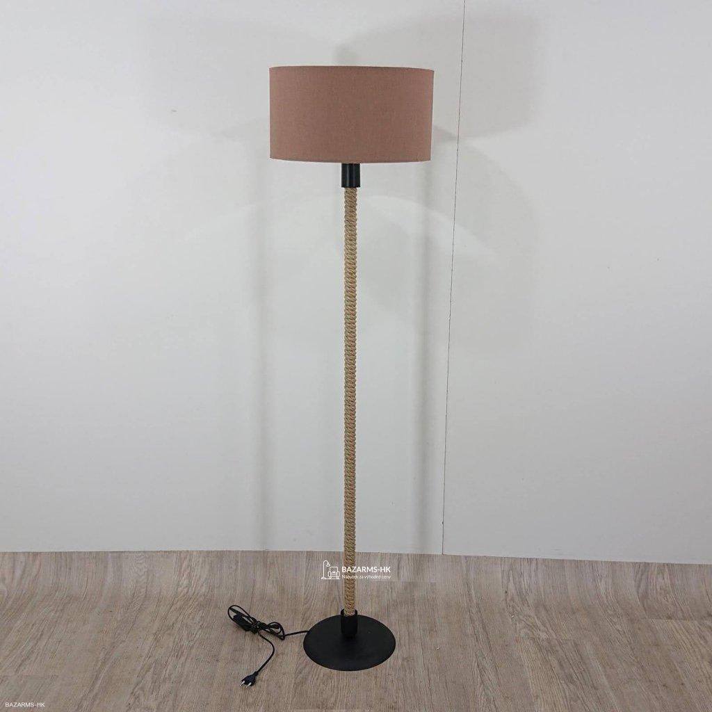 Lampa se světle hnědým stínítkem lampa K