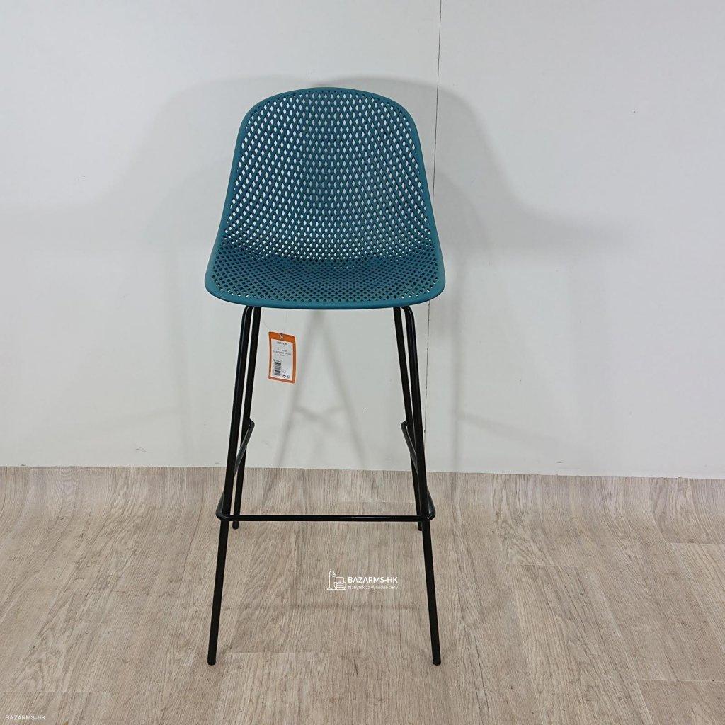 Modrá barová židle Leitmotiv Diamond Mes