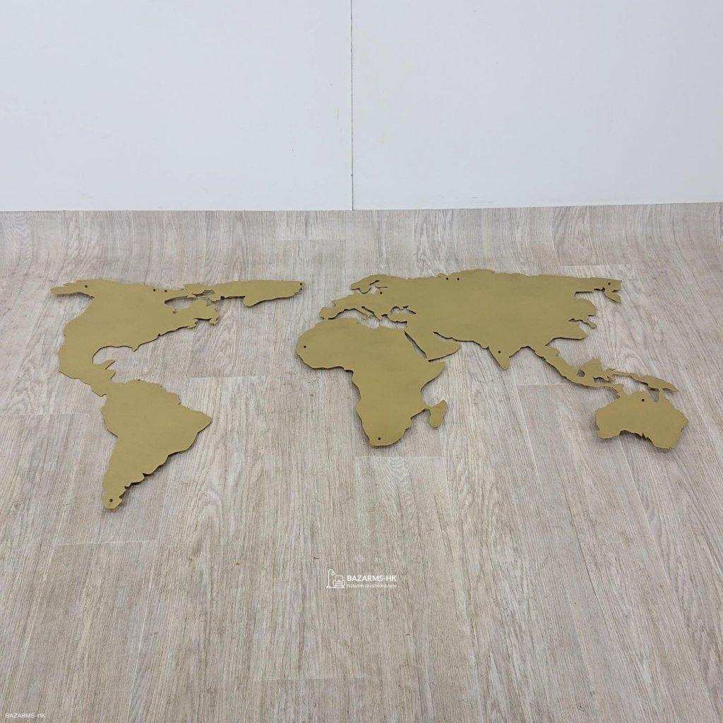 Nástěnná kovová dekorace World Map XL