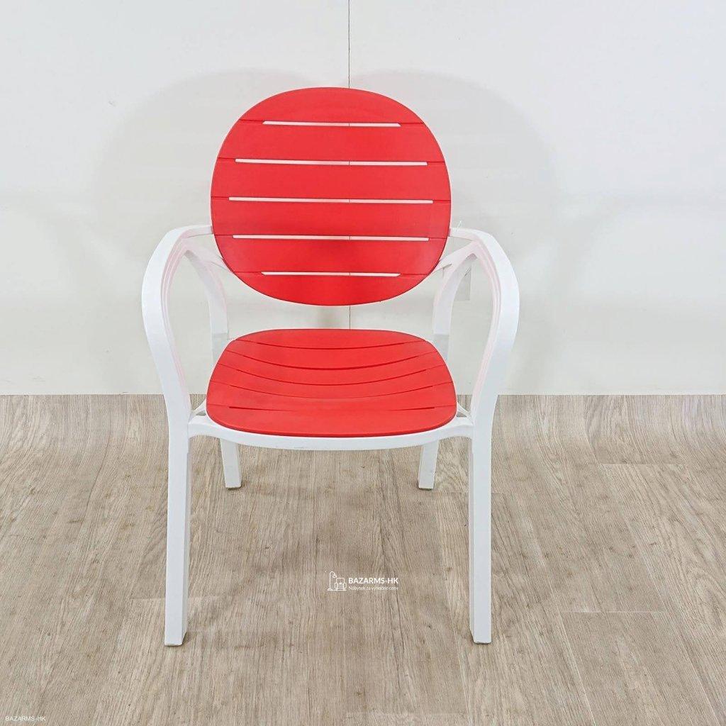Plastová židle MOLLY červená