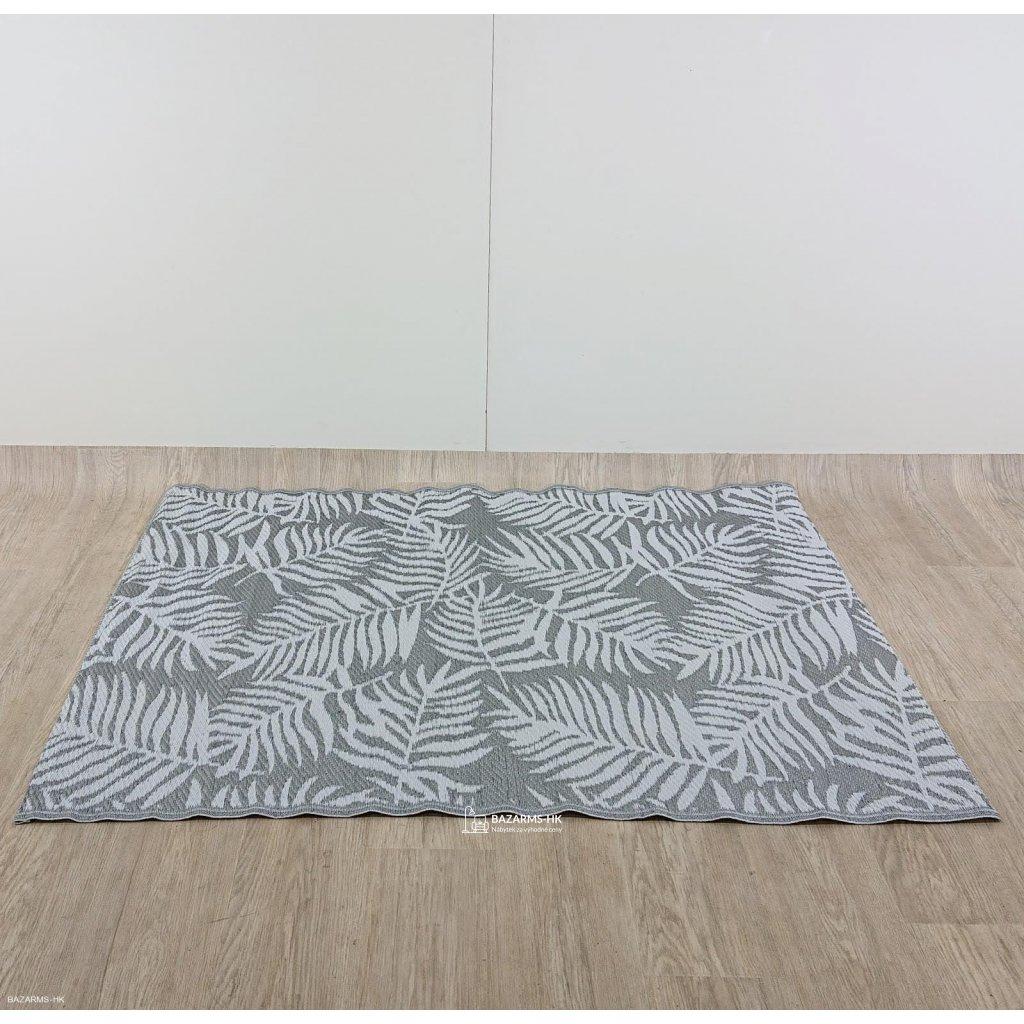 Tmavě šedý venkovní koberec Monobeli Cas
