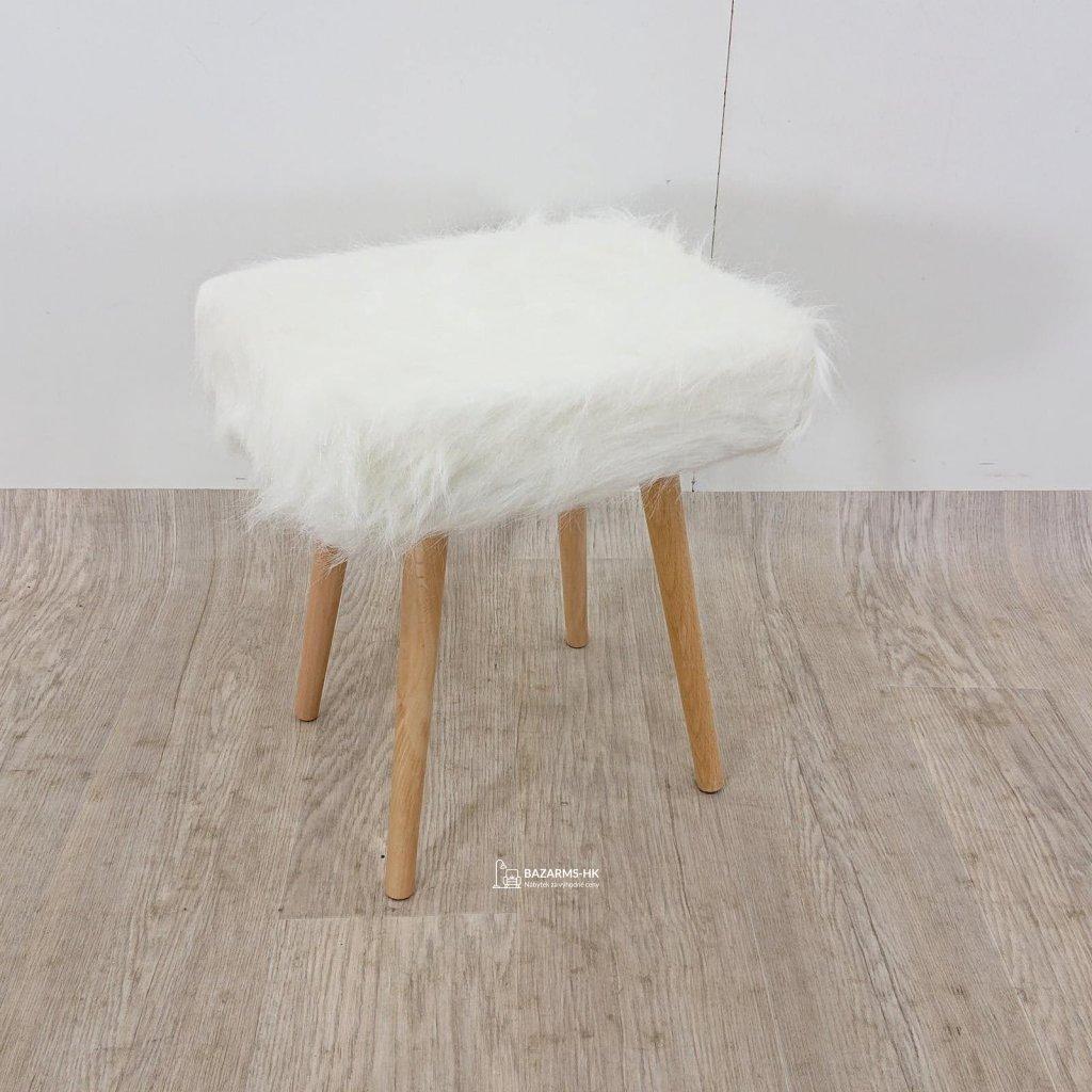 Bílá stolička s nohami z dubového dřeva Tomasucci Cloud, 40 x 30 x 48 cm