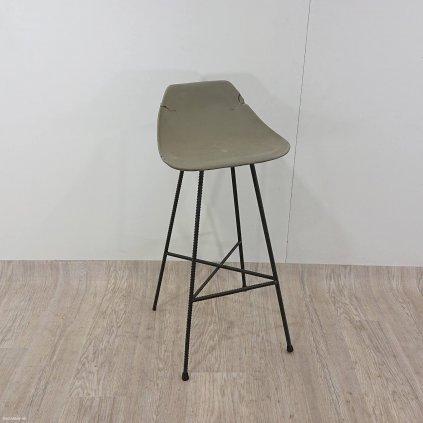 Betonová barová židlička Lyon Béton Haut