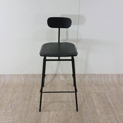 Černá barová židle Canett Alexia