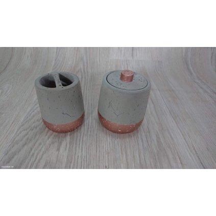 Dóza s víkem Concrete Copper Kare Design