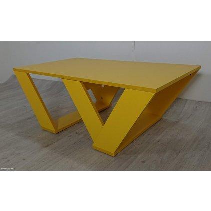 Hořčicově žlutý konferenční stolek Homit