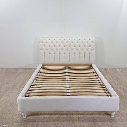 Krémová postel Vivonita Allon