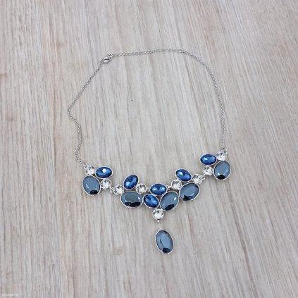 Náhrdelník s modrými krystaly Swarovski
