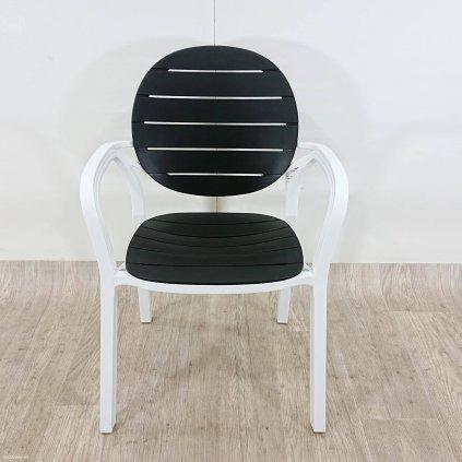 Plastová židle MOLLY černá