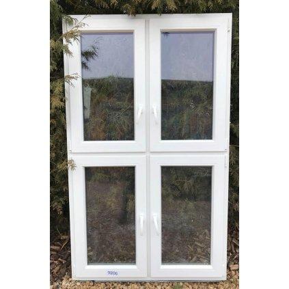 Plastové okno 121 x 202 cm