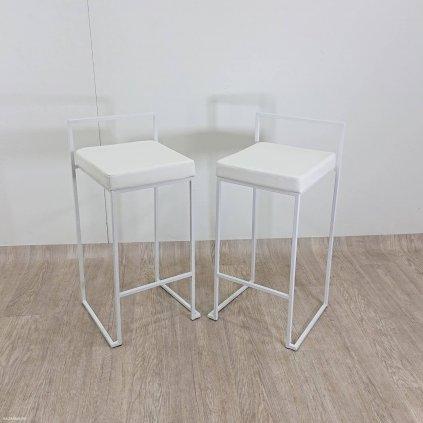 Sada 2 bílých barových židlí Tomasucci D