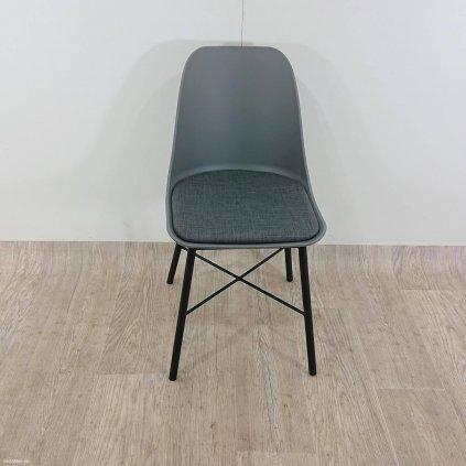 Šedá jídelní židle Unique Furniture Whis