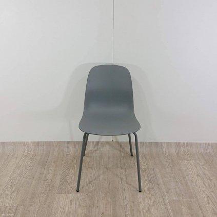 Šedá jídelní židle Unique Furniture Whit