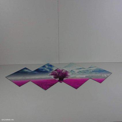 Vícedílný obraz Purple Tree