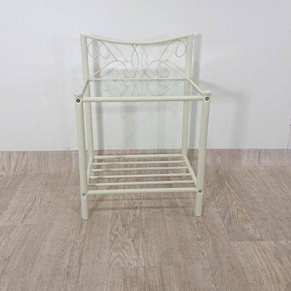 Bílý kovový noční stolek Storaa Isabelle