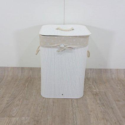 Béžový bambusový koš na prádlo Premier Housewares Kankyo, 62 l