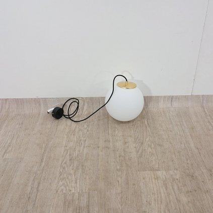 Bílé závěsné svítidlo s objímkou ve zlaté barvě Sotto Luce TSUKI M, ? 25 cm