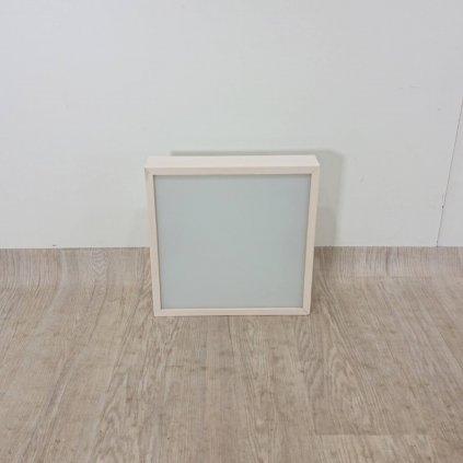 Bílé čtvercové stropní svídidlo Lamkur Plafond, 37,5 x 37,5 cm