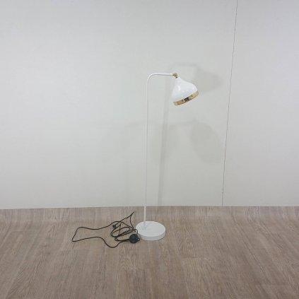 Stojací lampa v bílo-zlaté barvě Opviq lights Yildo