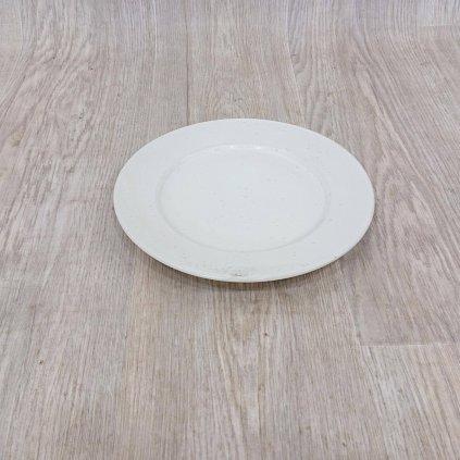 Krémový kameninový mělký talíř Bitz Basics Matte Cream, ? 27 cm