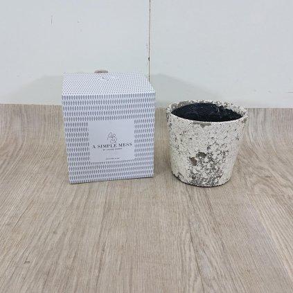 Šedý terakotový květináč A Simple Mess, 14 cm