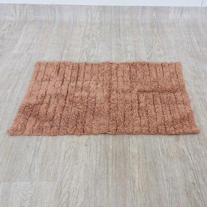 Oranžová bavlněná koupelnová předložka Zone Tiles, 80 x 50 cm