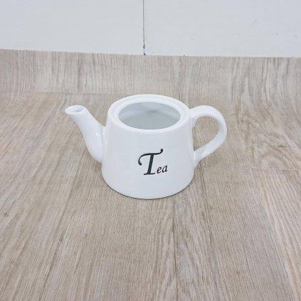 Bílá keramická konvička Dakls, 1000 ml