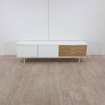 Bílo-hnědý televizní stolek Teulat Sierra