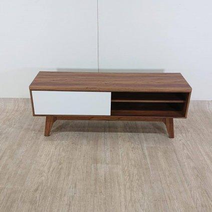 Dřevěný televizní stolek s odkládací zásuvkou - BUFFALO_1
