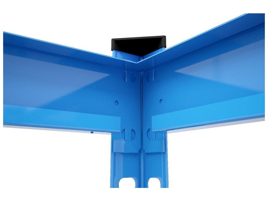 AKCE - Balíček : 3x  Regál průmyslový PROFESIONÁLNÍ 1680×1600×600 mm lakovaný 4-policový, nosnost 1600kg