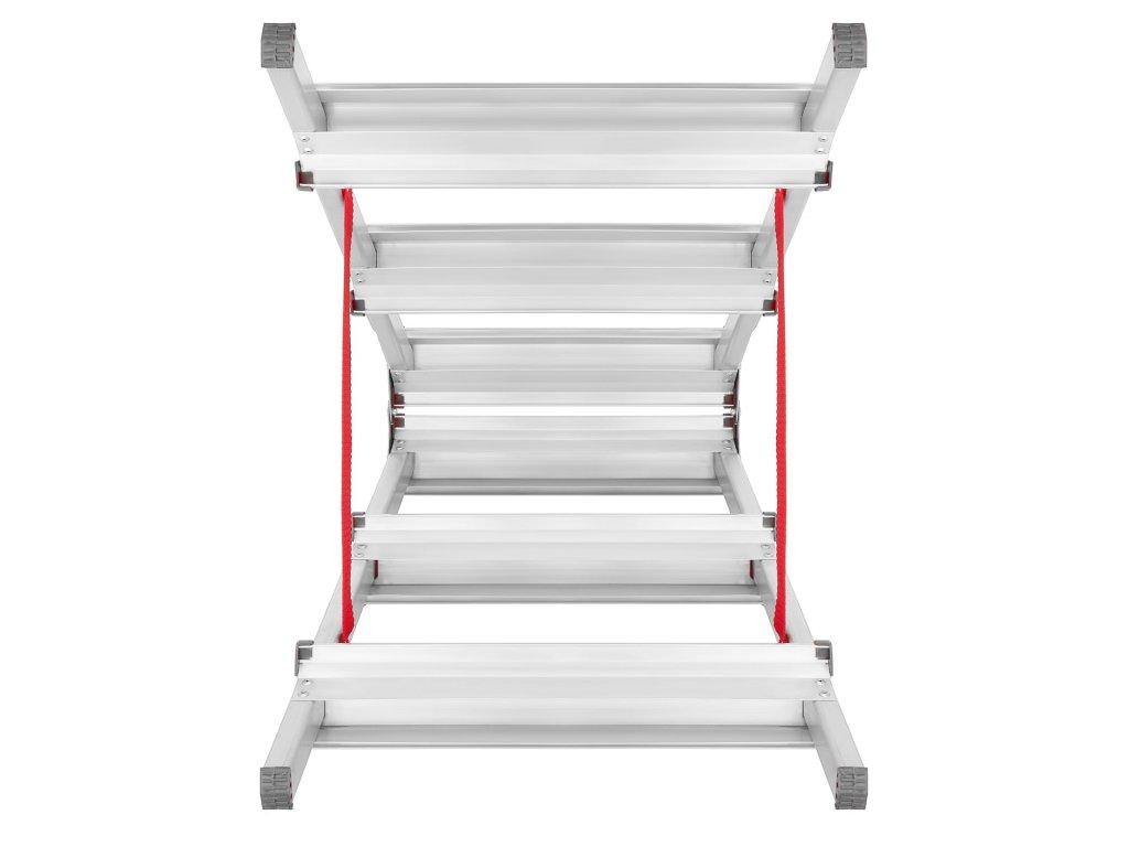 PROFI oboustranné schůdky, štafle 7x2 stupně, pracovní výška 3,5m