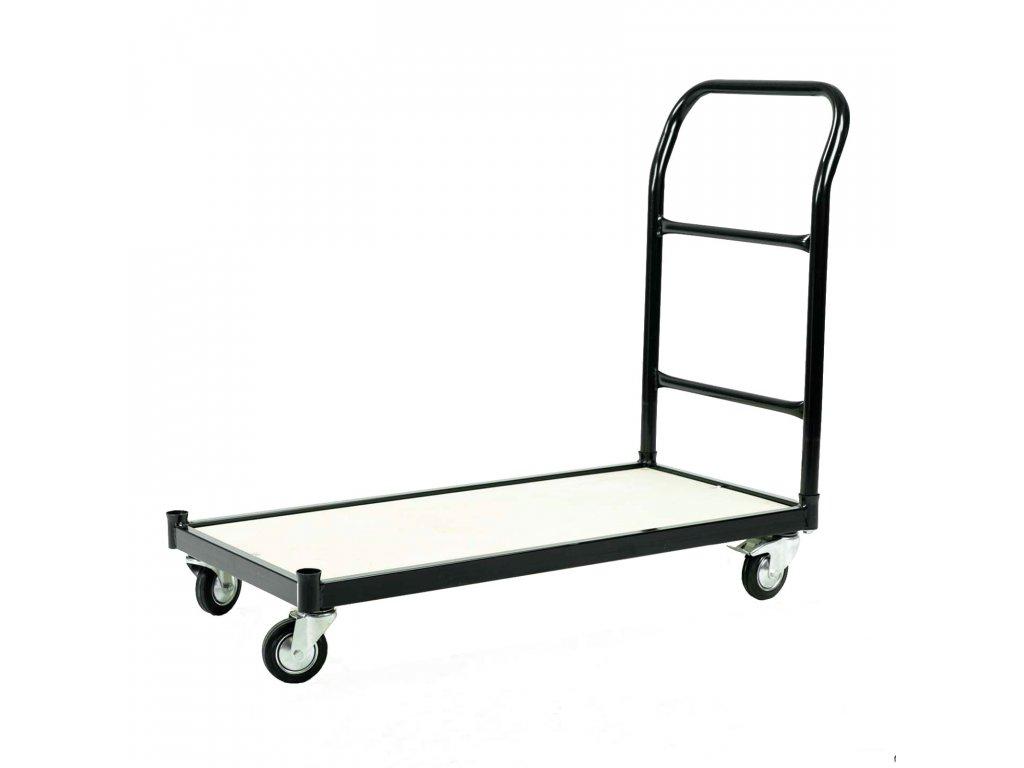 Skladový vozík s nosností 250 kg s brzdou - ČERNÝ