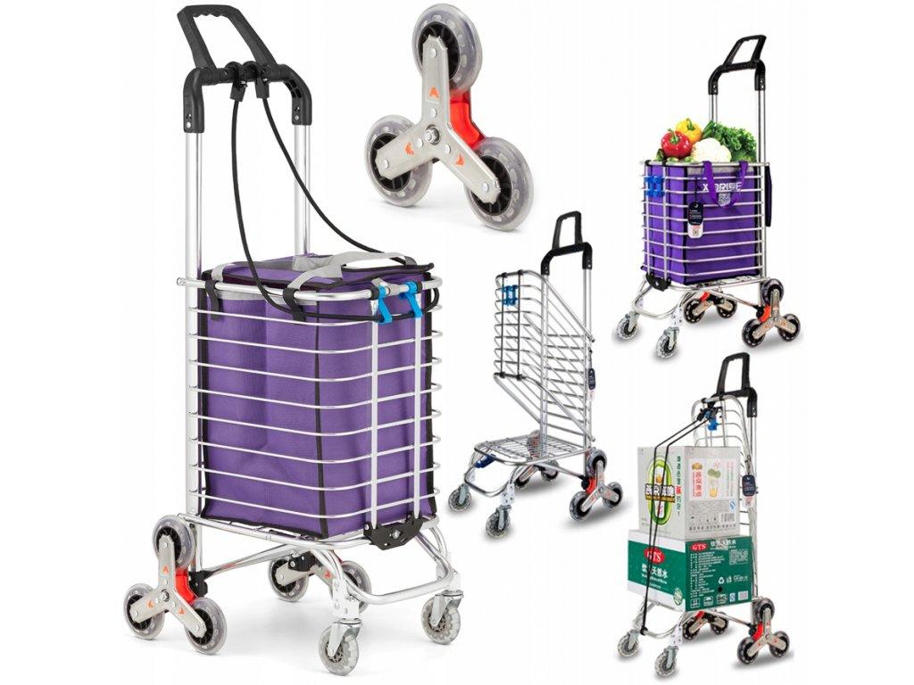 9424 5 nakupni vozik skladovaci 80 kg schodovy