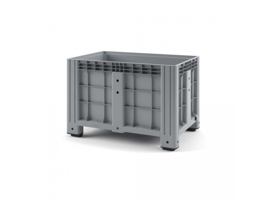 9958 paletovy kontejner bigbox120 x 80 x 80 cm seda