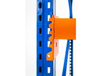 Nekonečný průmyslový PROFESIONÁLNÍ regál 2400x1800x800 4-policový s nosností 3200kg - základní modul
