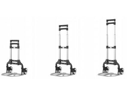 Hliníkový skládací přepravní vozík 70 kg