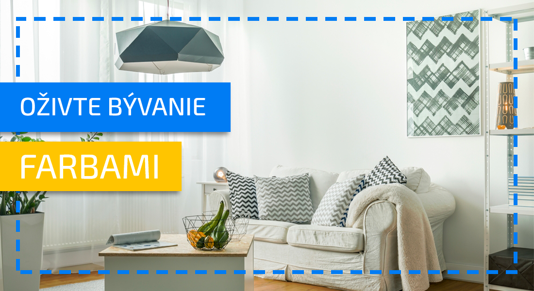 10 lacných tipov, ako si farebne oživiť interiér