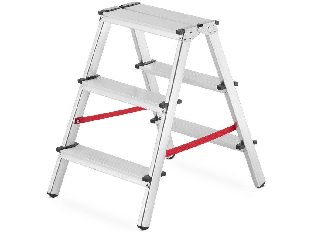 PROFI obojstranné schodíky, štafle 3x2 stupňa, pracovná výška 2,6m