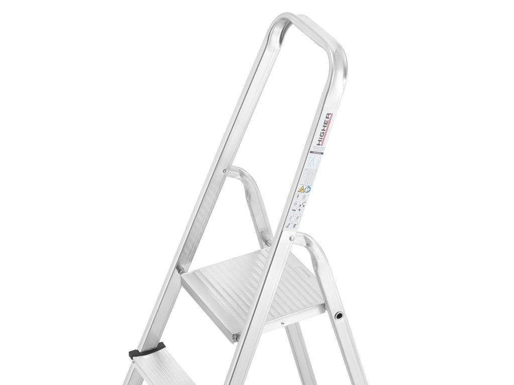 PROFI jednostranné schodíky 4 stupne, pracovná výška 2,8m