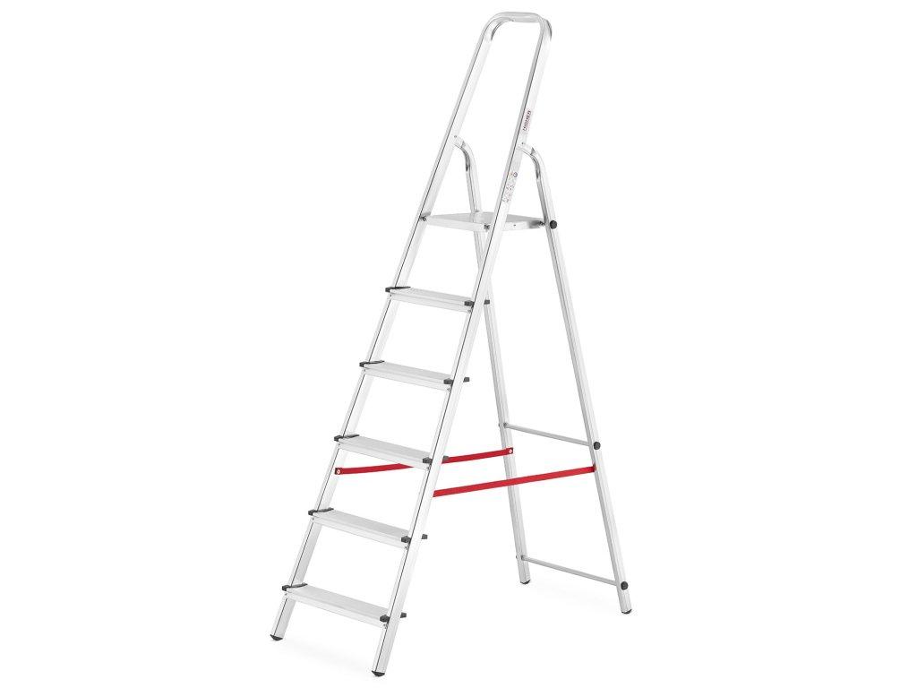 PROFI jednostranné schodíky 6 stupňov, pracovná výška 3,3m