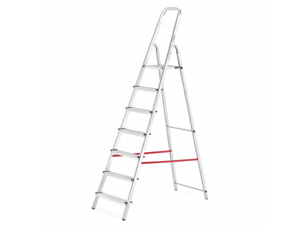 PROFI jednostranné schodíky 7 stupňov, pracovná výška 3,4m