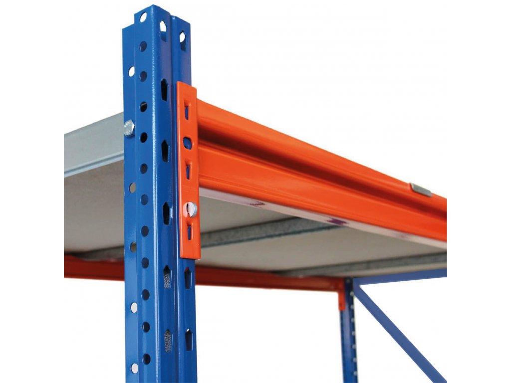 Nekonečný priemyselný PROFESIONÁLNÝ dvojregál 2400x3660x600 8-policový s nosnosťou 7200kg s možnosťou rozšírenia