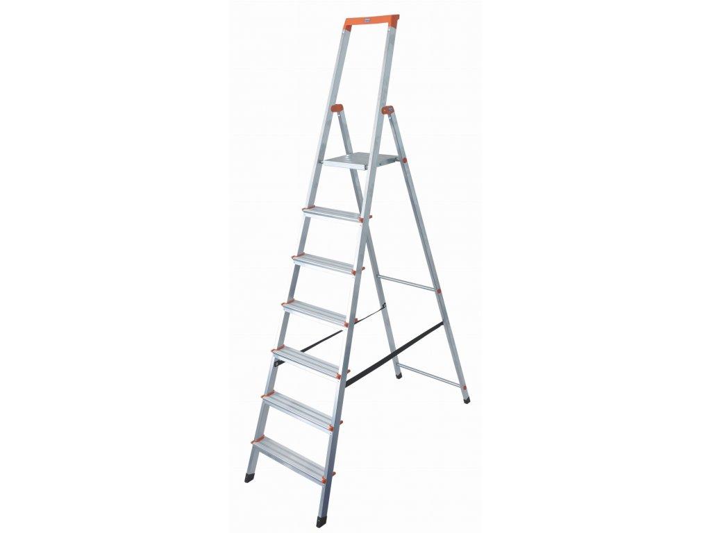 Skladací hliníkový rebrík KRAUSE 7 stupňov