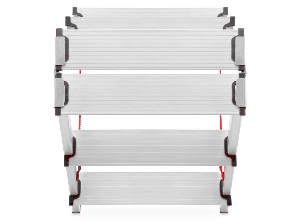 PROFI obojstranné schodíky, štafle 4x2 stupňa, pracovná výška 2,8m