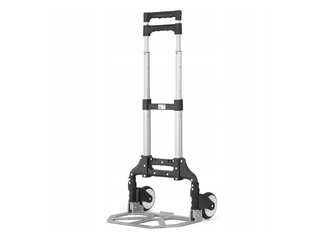 2477 5 hlinikovy skladaci prepravny vozik 70 kg