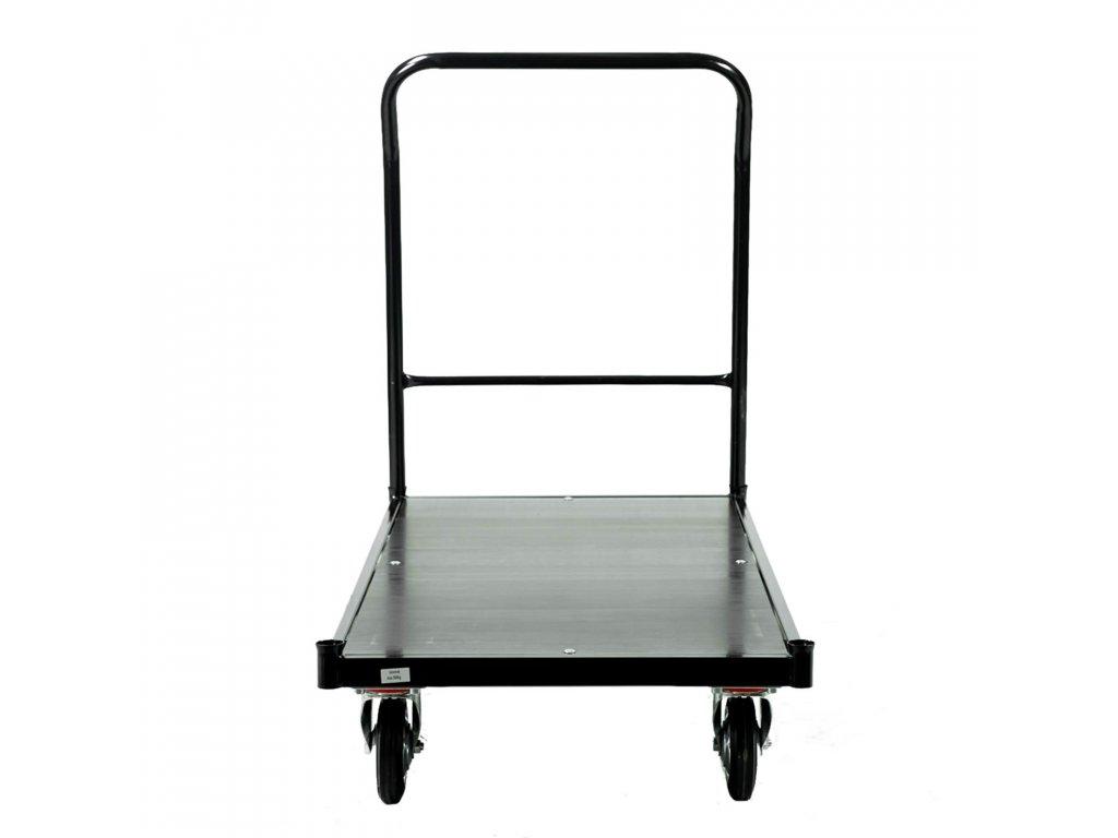 Skladový vozík s nosnosťou 500 kg s brzdou - ČIERNY
